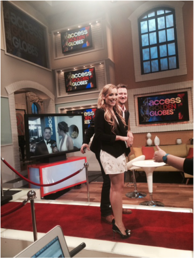 On set Access Hollywood